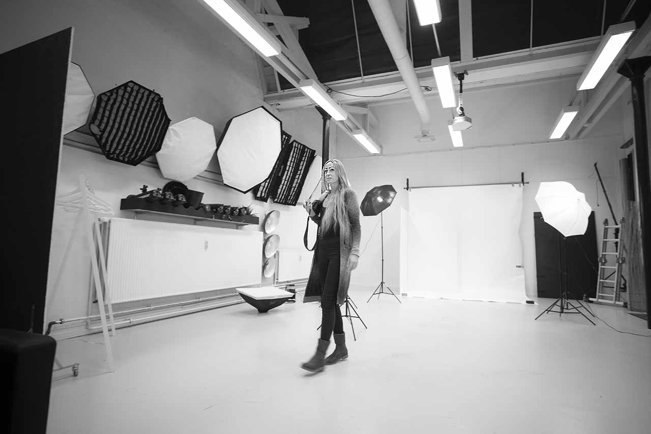 fotograf i fotostudio i Sønderborg